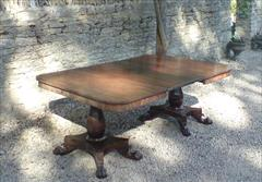 2 Pedestal Antique DIning Table 23½ each section 48d 70½w _1.JPG