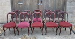 10 antique dining chairs 35h 19d 19h seat 18d seat _1.JPG