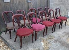 10 antique dining chairs 35h 19d 19h seat 18d seat _4.JPG