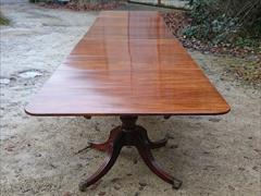 Antique 4 pedestal dining table 240 245 long 51w 28h _19.JPG