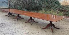 Antique 4 pedestal dining table 240 245 long 51w 28h _2.JPG
