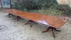 Antique 4 pedestal dining table 240 245 long 51w 28h _4.JPG