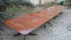 Antique 4 pedestal dining table 240 245 long 51w 28h _8.JPG