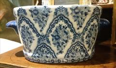 Antique Washbowl With Fish Pictures Inside 1.JPG