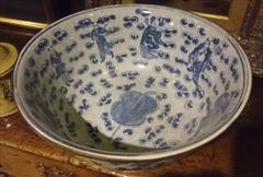 Antique Punch Bowl Chinese Export 14w 6h _5.JPG