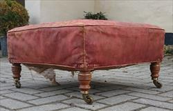 Antique Howard Footstool Leather 25 x 23 x 12h _9.JPG