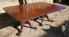 Twin Pedestal Antique Regency Mahogany Dining Table 145cm 57W 74cm 29H 236cm 93L w leaf 208cm 82L wo leaf  _17.JPG